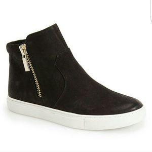 NIB Kenneth Cole Black Kiera ZIP Up Sneakers